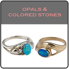 Opal and colored stone jewelry
