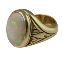 "Men's ""Egyptian Lotus"" Ring"