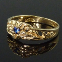 "Sapphire ""Ivy Flower"" Ring"