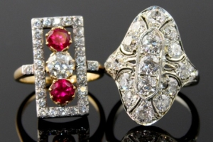 Antique Art-Deco Rings